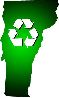 Vermont Recycle Map Gradient